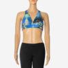 Posto9 Pink Palmtree Print Stretch capri 3/4 length leggings for Pole Dance, Fitness, and Yoga