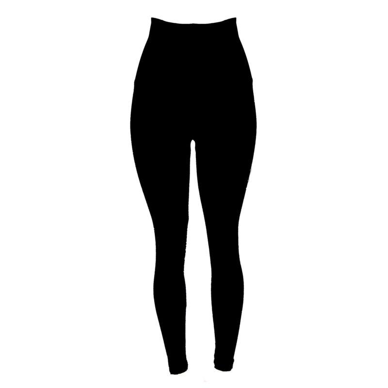 Posto9 Black Shapewear Leggings with High Rolldown Waist