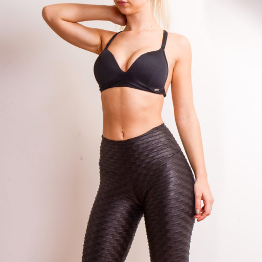 Wet look Leggings. Ethically made Posto9 Brazilian Yoga wear leggings and tops