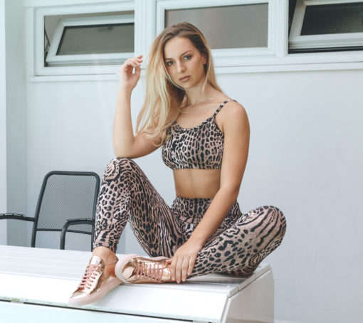 Posto9 Activa Ethical leopard legging made with bio degradable lycra