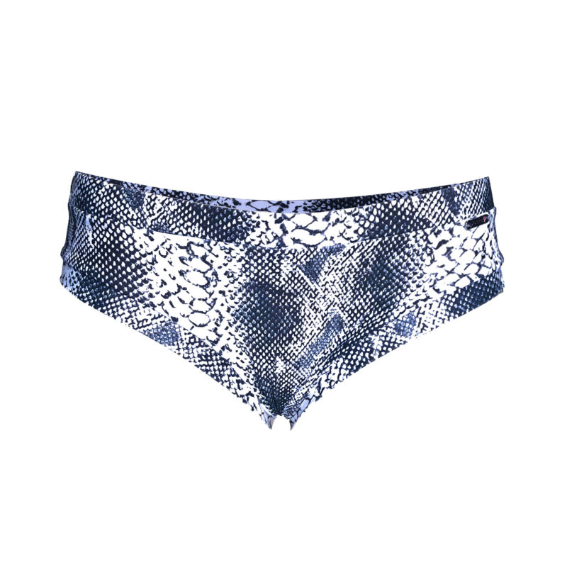 Posto9 Eco-friendly Snake Print Polewear short made in Ibiza from recycled fishing nets