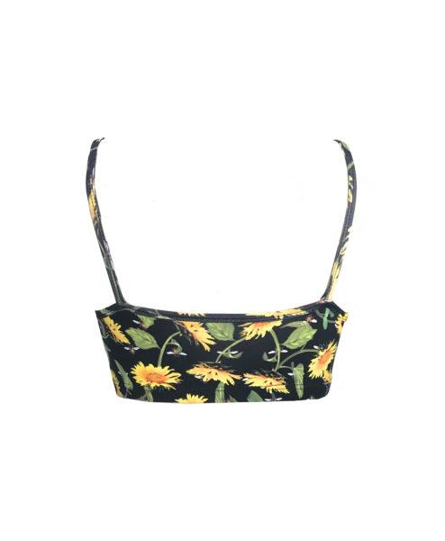 Soft supplex SUNFLOWER yogawear bra Ethically made in Rio de Janeiro by Posto9