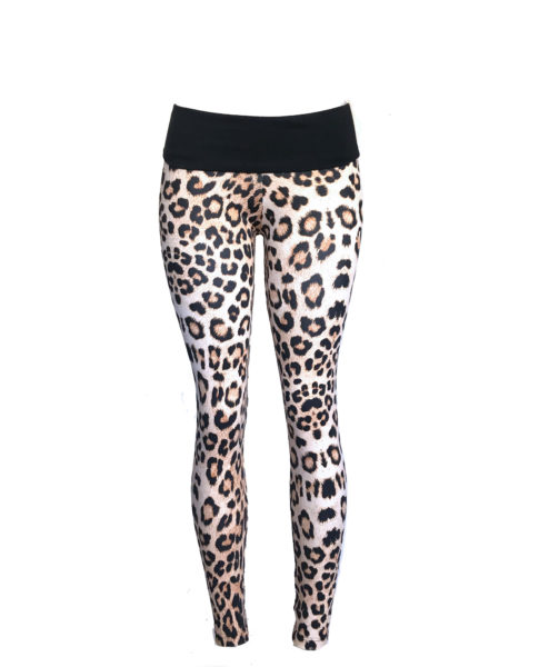 Ethically made leopard bodysculpting fitnesswear leggings by Posto9