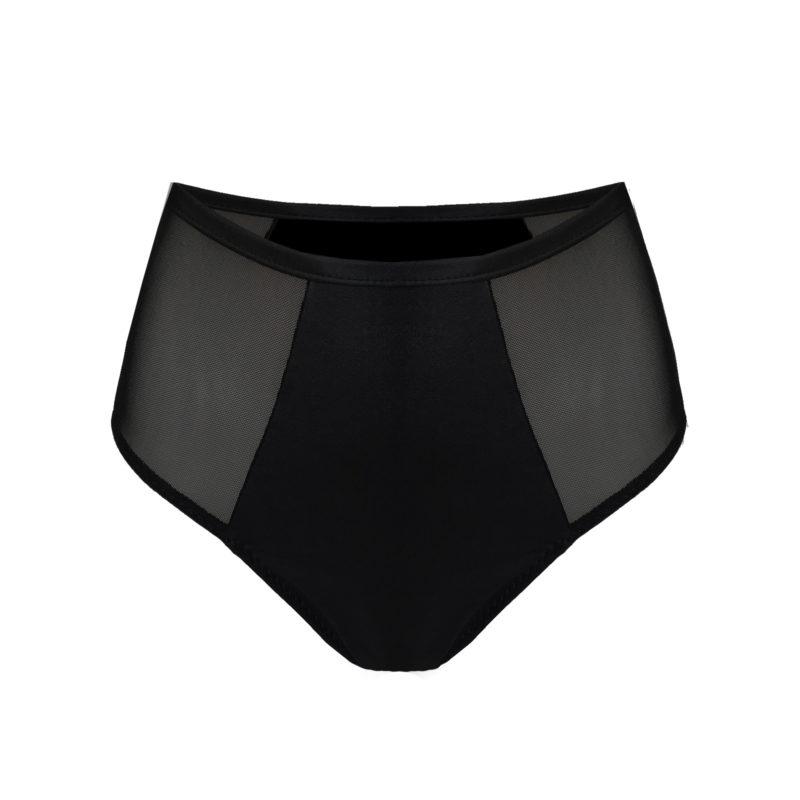 Posto9 shiny mesh black high waist Pole dance shorts