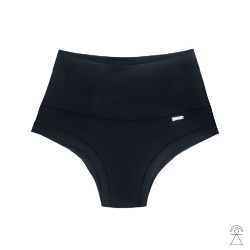 High Waist Black Pole shorts by Posto9. Made in IBIZA