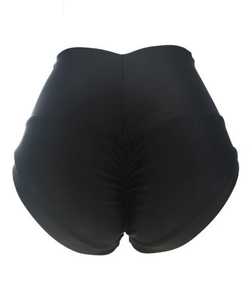 High Waist Black Pole shorts by Posto9. Made in IBIZA