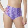 Snake print purple Pole shorts and polewear by Posto9. Made in IBIZA