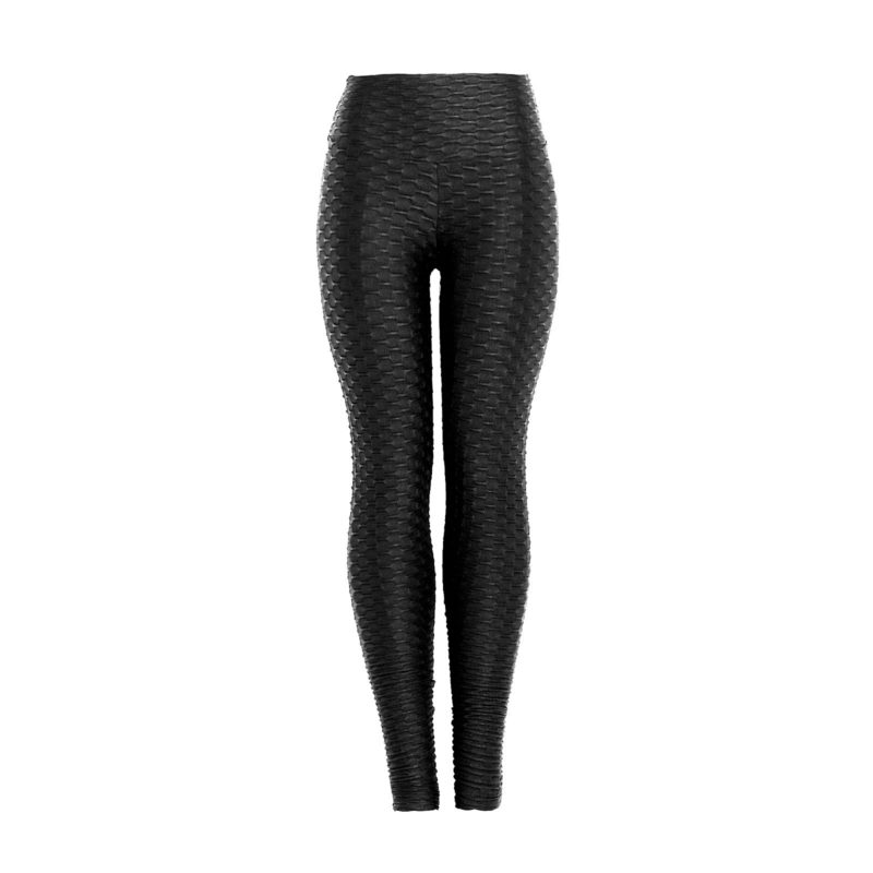 Wet look shiny black textured leggings by Posto9