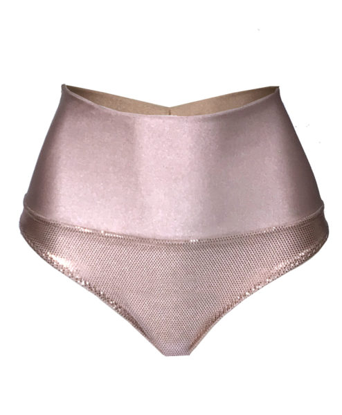 Rose Gold Metallic Tanit Pole Shorts and polewear by Posto9. Made in IBIZA