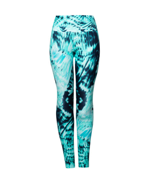 Tie dye print body shaping bum lift leggings by Posto9