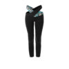 Posto9 black and turquoise crossover leggings