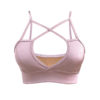 Posto9 Rose Gold Stretch Bra for Pole Dance, Fitness, and Yoga