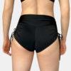 Posto9 High Waist Black Drawstring Pole Short Noa
