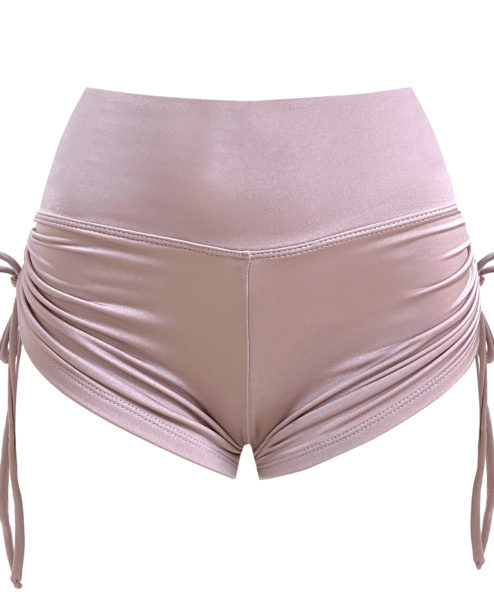 Posto9 Satin Rose Gold Polewear short made in London
