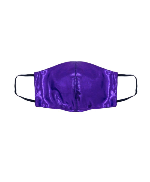 Posto9 Purple Metallic Face Mask