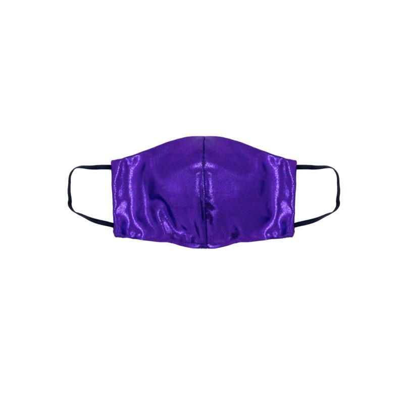 Posto9 Purple Metallic Face Mask