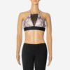 Posto9 Snake Print Stretch Bra for Pole Dance, Fitness, and Yoga made with Econyl