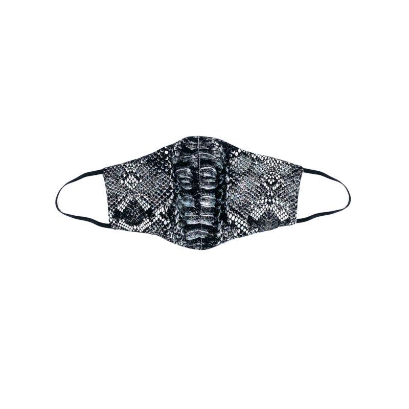 Posto9 Black Metallic Cobra Face Mask