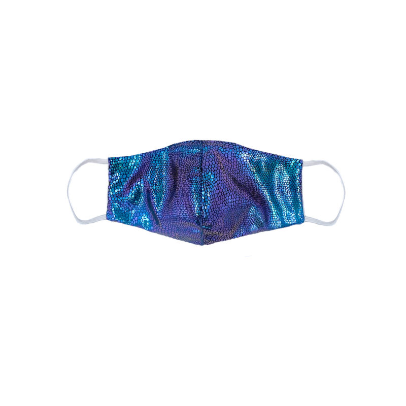 Posto9 Blue Mermaid Irridescent Metallic Face Mask