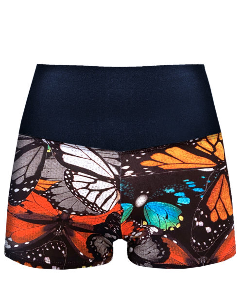 Posto9 High Waist Butterfly Print Shorts