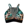 Posto9 Eco Recycled Green Animal Print Bra for Pole Dance and Yoga