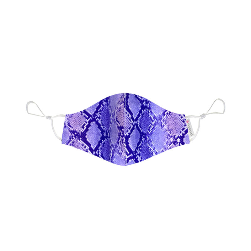 Posto9 Reusable Fabric Face Mask Washable Purple Cobra