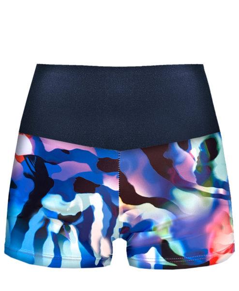 Posto9 Eco Recycled Rainbow Zebra Print Shorts for Pole Dance and Yoga