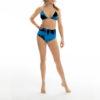Posto9 high waist short blue indigo tie dye print
