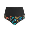 Posto9 high waist black multi -color butterfly shorts