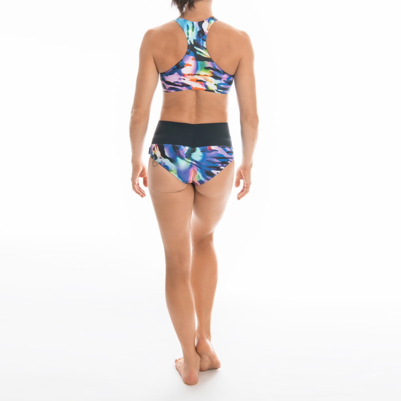 Posto9 Eco Recycled Rainbow Zebra Print Shorts for Pole Dance and Yoga