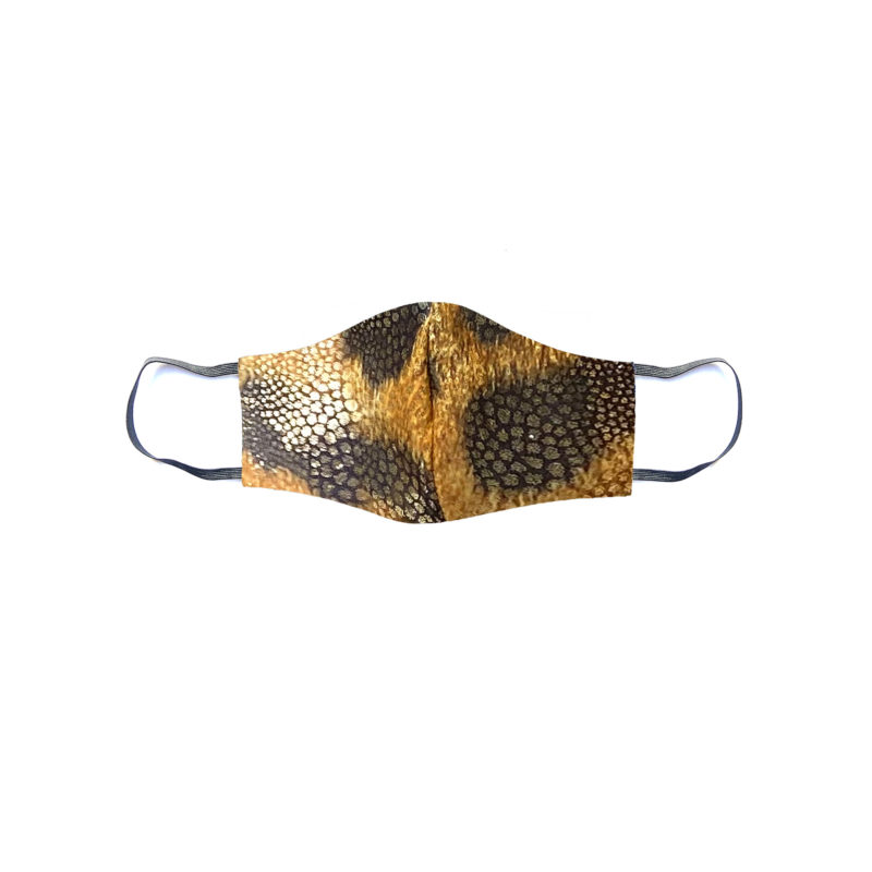 Posto9 Gold Leopard Face Mask