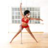 Posto9 Red Shine Stretch Bra for Pole Dance, Fitness, and Yoga