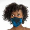 Posto9 Tie dye Indigo blue Face Mask