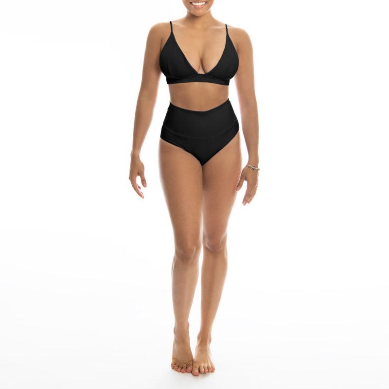 Posto9 black eco triangle bralette sports bra yoga top