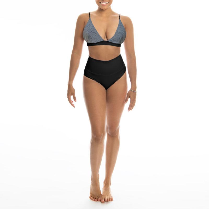 Posto9 reflective triangle bra sports bra yoga top bralette