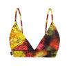 Posto9 starburst print yellow orange black triangle bra sports bra yoga top bralette