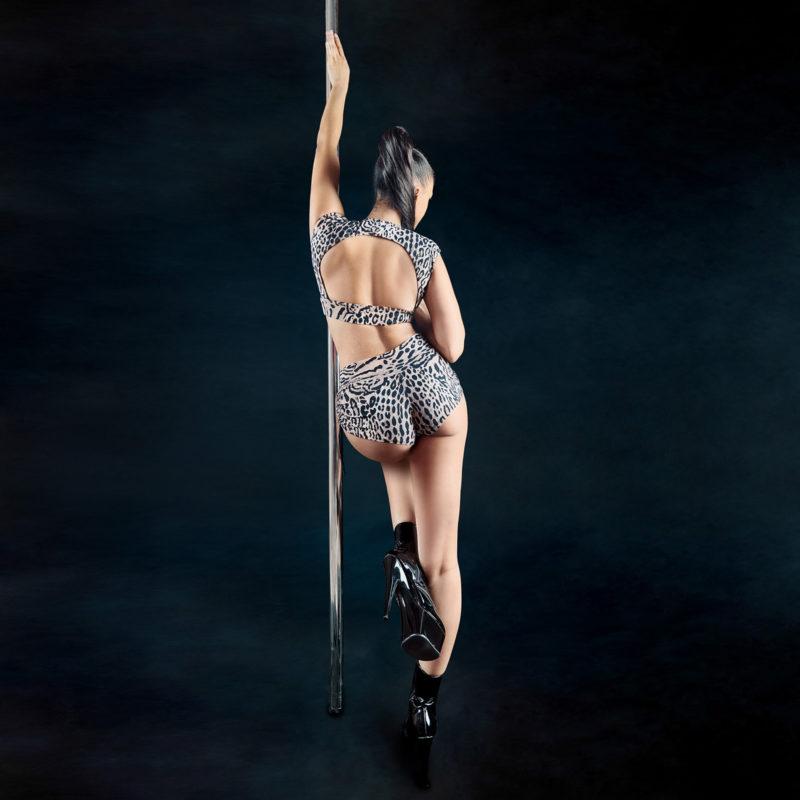 Posto9 leopard print drawstring high waist shorts lynx for yoga, pole dance and gym