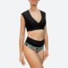 Posto9 econyl sustainable black bralette sports bra for yoga, pole dance and gym