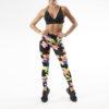Posto9 high waist leggings multi-colour print