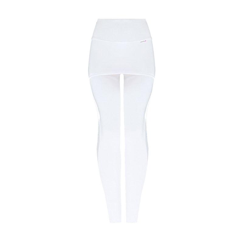 Posto9 High Waist White Leggings