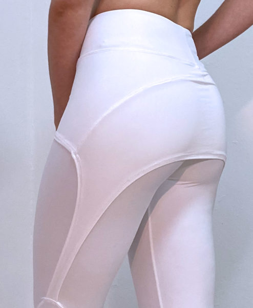 Posto9 High Waist White Leggings