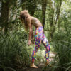 Posto9 High Waist Sculpt Yoga leggings Rainbow Tie-Dye Swirl