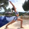 Posto9 High Waist Sculpt Running Yoga Shorts 9cm White Snake Print Eliza