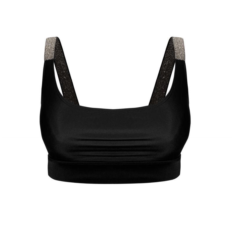 Posto9 ECO sustainable black bralette econyl sports bra for yoga, pole dance and gym